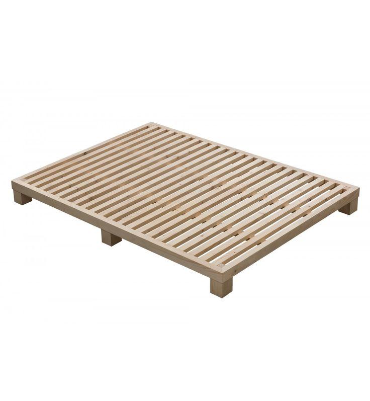 Somier elaborado con madera de pino de origen finlandés, trabajada siguiendo las técnicas artesanas tradicionales finlandesas.  Bastidor de madera maciza de 65 x 40 mm.  21 traviesas de madera maciza de 45 x 25 mm. machiembradas mediante técnicas de carpintería tradicional.  Altura total: 16'5 cm.  colchonesycamas.net-Donalit Somier de Madera Maciza Nordik-DonalitNordik-31