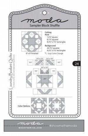 Moda Fabrics Sampler Block Shuffle Pattern. Free PDFs for all blocks.