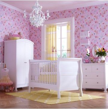 Classic white nursery roomset from www.custardandcrumble.co.uk fit for a princess!