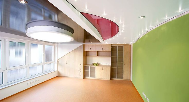 A combination of different stretch films looks amazing on the ceiling. http://109ltd.cz