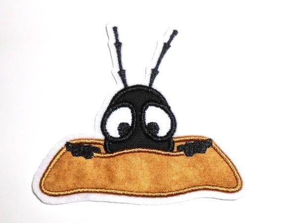Aufnaher Applikation Schuchterne Ameise Im Sandhugel Aufnaher