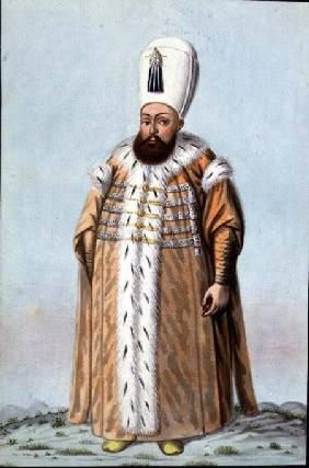 John Young - Mahomet (Mehmed) III (1566-1603) Sultan 1595-1603, from 'A Series of Portraits of the Emperors of Tu
