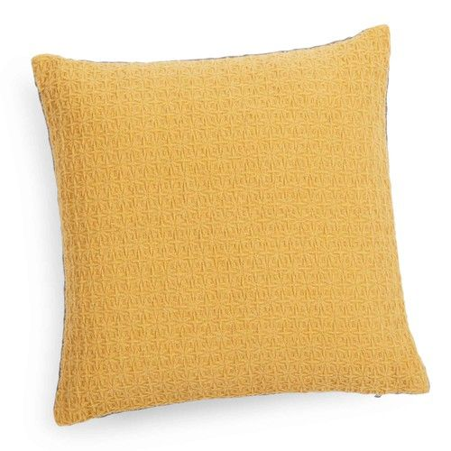 Cuscino giallo senape/grigio 40 x 40 cm YEP