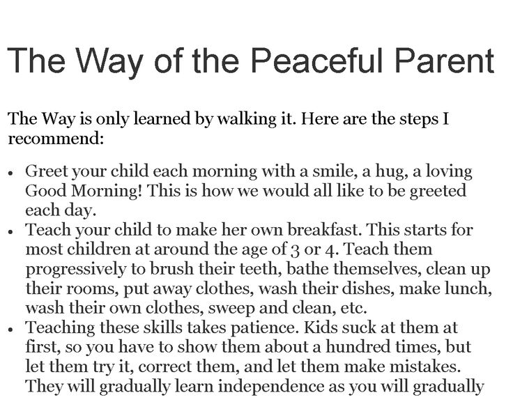 The Way of the Peaceful Parent