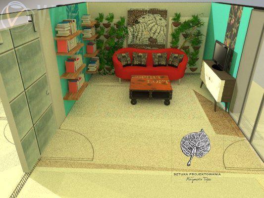 projekt salon zielona ściana m.tylec@autograf.pl