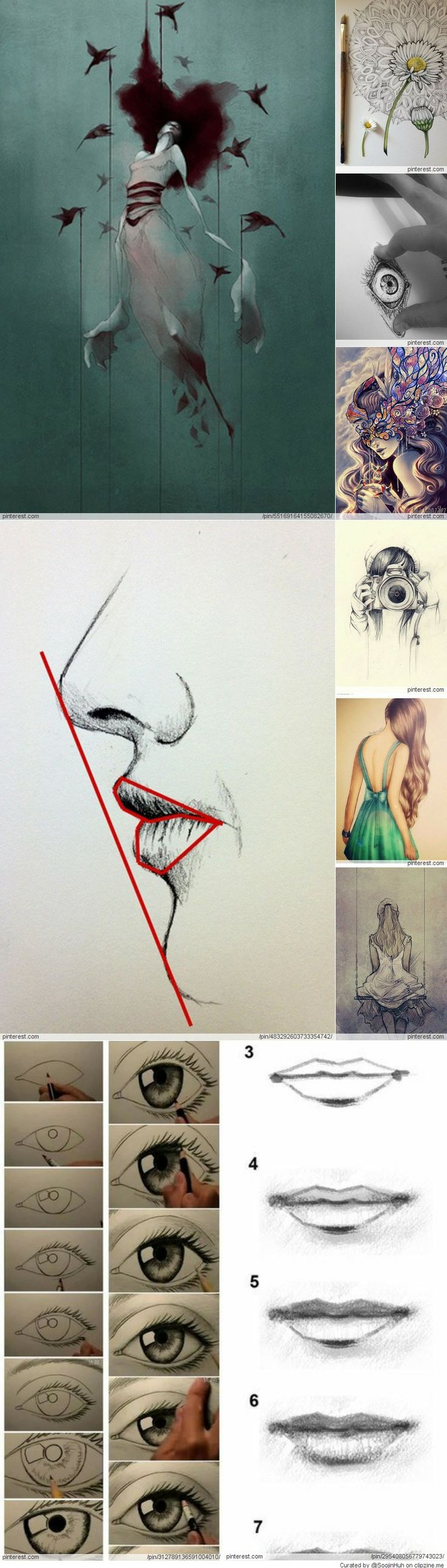 Drawing Inspiration, techniques, proportions, tutorials