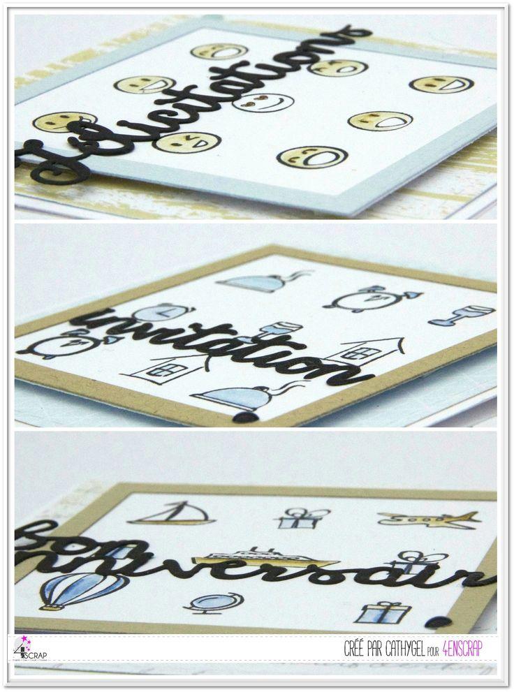 """Cathygel : Tampons et matrices de coupe (dies) #4enSCRAP """"Petits plaisirs du quotidien"""", """"Planning"""", """"Aujourd'hui"""" & """"Dates & alphabet"""""""