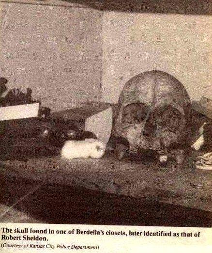 Skull of Robert Berdella victim Robert Sheldon.