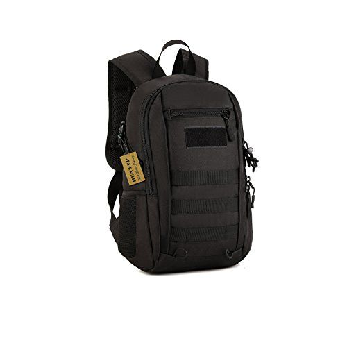 Huntvp 12L Mini Daypack Military MOLLE Backpack Rucksack Gear Tactical Assault Pack Student School Bag for Hunting Camping Trekking Travel - 12L Military Tactical Backpack Nylon Student School Bag waterproof Assault MOLLE Pack Hunting Camping Trekking bag Department: Unisex Structure 1.Exterior: One zipped front pocket, Two mesh side pockets 2.Interior: One main pocket, one zipped pocket and one lining pocket 3.Outer Material: High st...