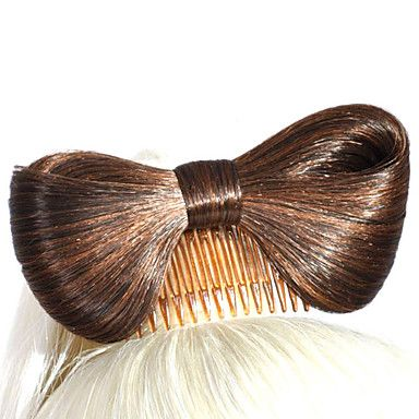 Fashion Butterfly Chignon Hair Wig Accessory – USD $ 5.99
