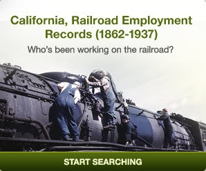 From 1862-1919, railroads changed life in California, connecting it with the rest of the nation. Did your ancestors contribute to this all important endeavor? Check out our database of California Railroad Employment Records to find out.  And, best of all, it's FREE thanks to our Ancestry World Archives Project contributors!  #genealogy #awap #free