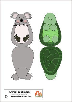 Printable Animal Bookmarks for Kids | Bookmarks kids ...