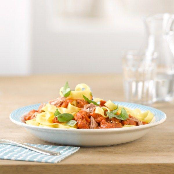 Pasta met snelle tonijnsaus #WeightWatchers #WWrecept