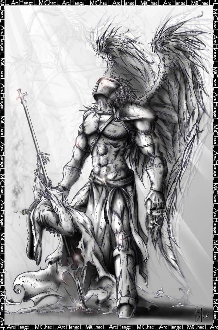Warrior Archangel Michael Tattoo Design Archangel Tattoo Archangel Michael Tattoo Archangels