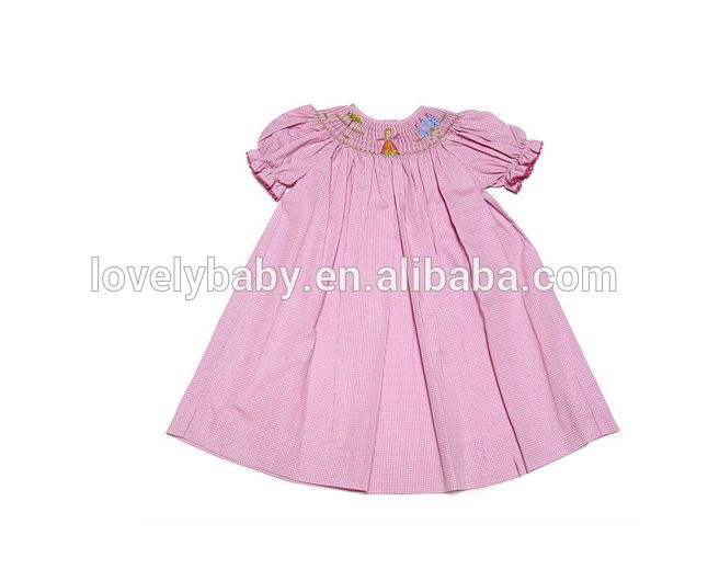 autumn little girls casual wear 3 year old girl smocked dress for holiday