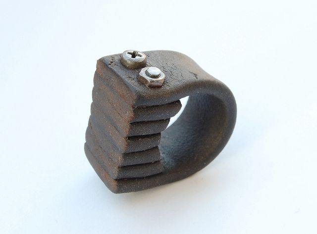 Leather Ring (2010, IT) Ring 206.4 by Blind Spot Jewellery, via Flickr.