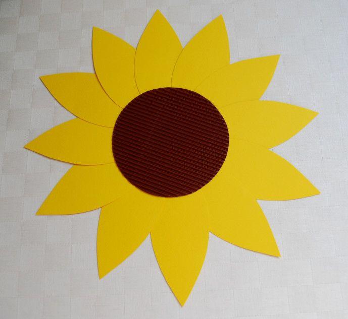 Sonnenblume basteln - Kinderspiele-Welt.de