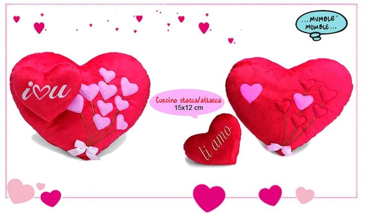 Hai già pensato a cosa regalare a #SanValentino?  Vorresti ricordare questa giornata speciale? Hai mai pensato ad #Cuscino a forma di #cuore in #peluches ?  Oppure ad un piccolo cuoricino stacca e attacca? Da portare sempre con te!
