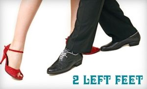 Groupon - $ 35 for Six Weeks of Couples' Group Dance Lessons at 2 Left Feet Dance Studio ($80 Value) in Highland Square. Groupon deal price: $35