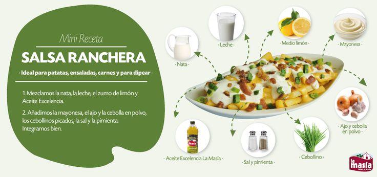Descubre esta deliciosa #salsa #ranchera. Acompáñala con deliciosos platos de carne, ensaladas o incluso solas con patatas. ¡Te encantarán!