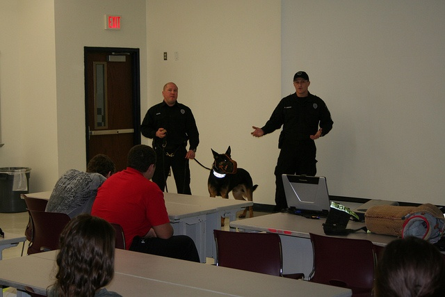 Mr. DeBoer's psychology students were given the opportunity to see first-hand how operant conditioning is used to train and handle police dogs when officers  and K-9s from Allegheny County Port Authority Police visited the High  School.     get access to no cost dog training courses http://FreeDogTraining.bestonlineproducts.net/