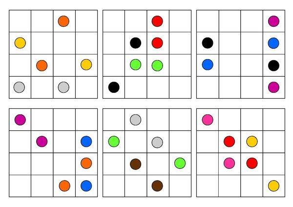 Logique - Grille 4x4 Modèle n°2