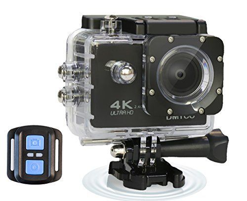 DMYCO 4K Ultra HD Sports Action Camera WIFI 16MP 2.0-Inch LCD Waterproof Action Camera with 170 Degree Wide Angle Lens 2.4G Wireless Remote Control for Outdoor Sports *** You can get more details by clicking on the image.