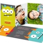 It's easy to plan kid's birthday party ideas around Pear Tree Greetings' Monster Birthday Party Invitation. Tie decor and food into the monster party theme.