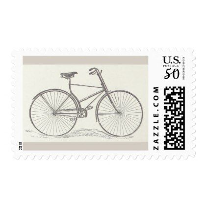 Vintage Old Fashioned Bicycle Depiction Postage - vintage gifts retro ideas cyo