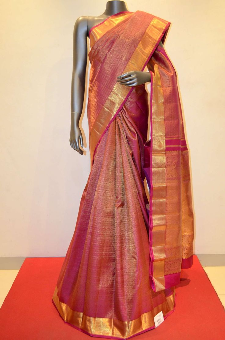 Wedding Royal Pink Designer Kanjeevaram Silk Saree Product Code: AA215831 To Shop Online Click Here: http://www.janardhanasilk.com/Wedding-Royal-Pink-Designer-Kanjeevaram-Silk-Saree?search=AA215831