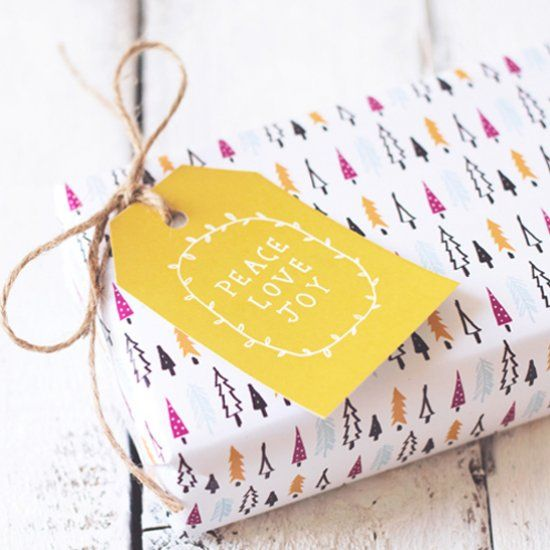Easy to download and print wrapping paper and gift tags to make your Christmas gifts even more special. Fun festive illustrations!