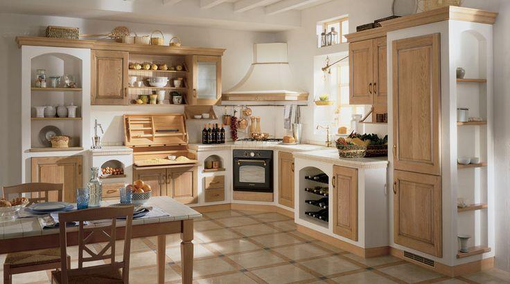 Cucine e cucine con un design classico e la campagna, arredato ...
