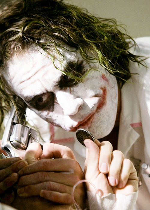 Best Joker ever. Heath Ledger.