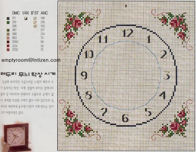 Emy's Gallery: Wonderful Cross Stitch Clocks Pattern