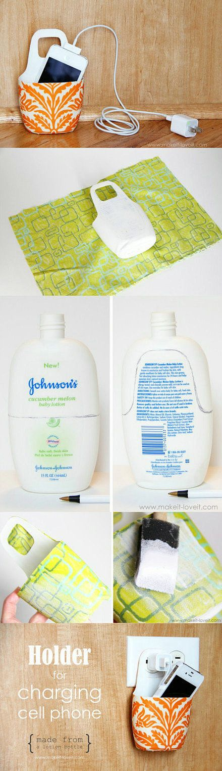 ou faire une jolie d'une vieille bouteille de lotion. | 28 Low-Tech Hacks For Your High-Tech Gadgets