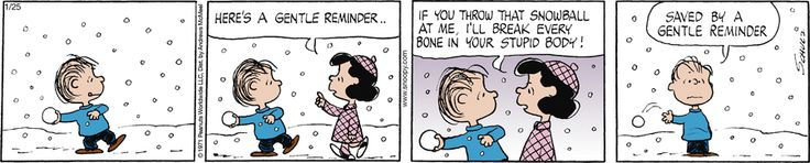 Peanuts by Charles Schulz for Jan 25, 2018 | Read Comic Strips at GoComics.com