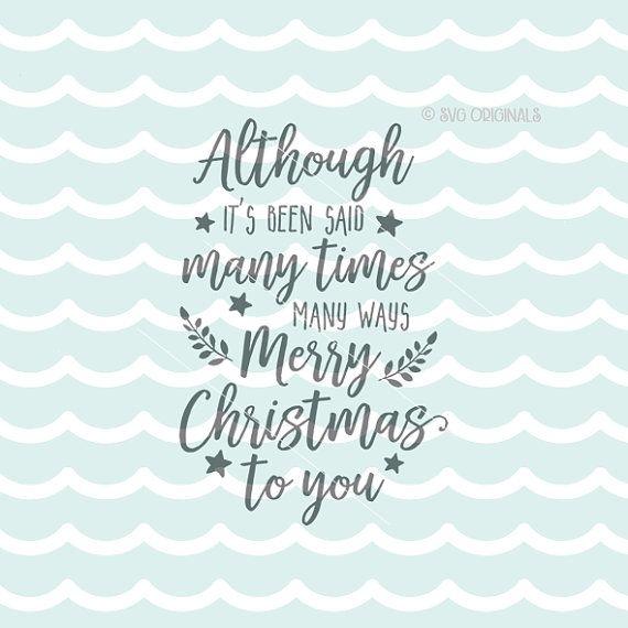 Feliz Navidad a usted SVG Navidad SVG Cricut por SVGOriginalsLLC