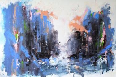 "Saatchi Art Artist Dan Wellington; Painting, ""'Metropolis Abstract'"" #art"