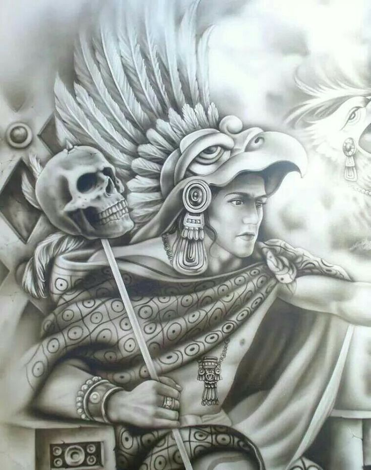 17 best images about warrior cp on pinterest for Aztec mural tattoos