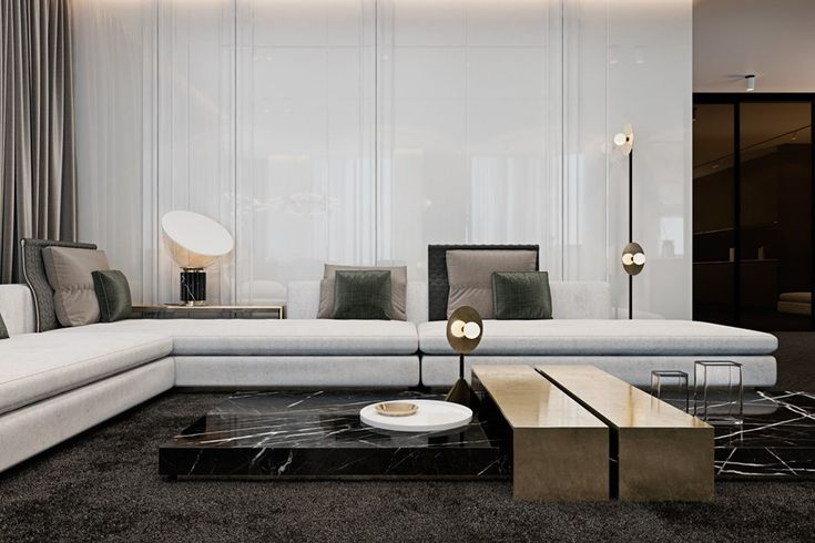 Contemporary Design | An amazing furniture piece combining black marble and gold lacquered lines | #coffeetable #moderndesign#livingroom the living room, modern living room, contemporary design. | Visit our blog www.coffeeandsidetables.com