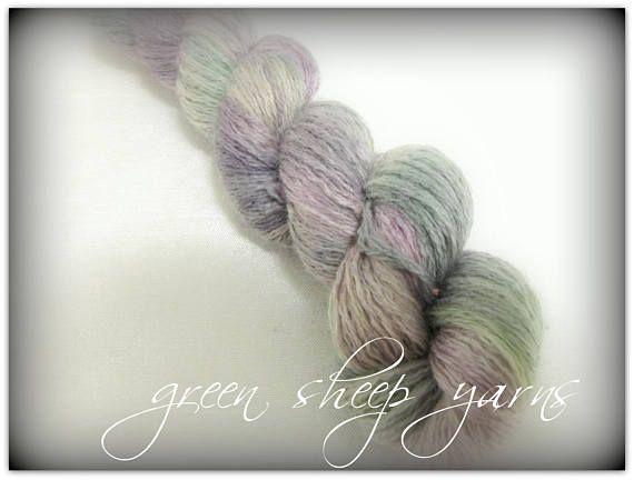 Spring Blooms / Hand painted yarn/ Repurposed yarn