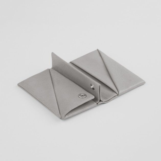Wallet Small Stone -  Each wallet is handcrafted in our Munich studio using a unique origami folding technique.  Holds up to 6 Cards, 2 Bill Compartments, Coin Compartment, Genuine Leather, VANOOK branding, Unisex, W 10,5cm D 7,5cm
