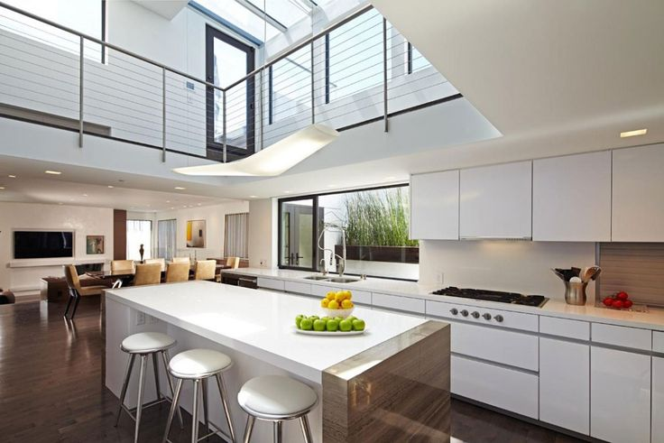 Void over kitchen with dining beyond: would be similar but ...
