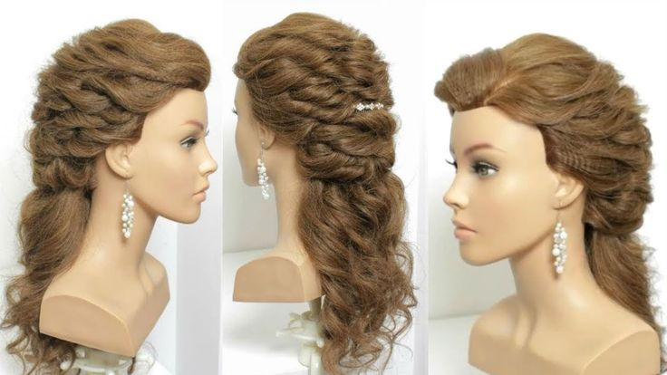 Half Up Half Down Hairstyle for prom with curls. Hair Tutorial – YouTube – #Button #Front # for #HairTutorial #Curls
