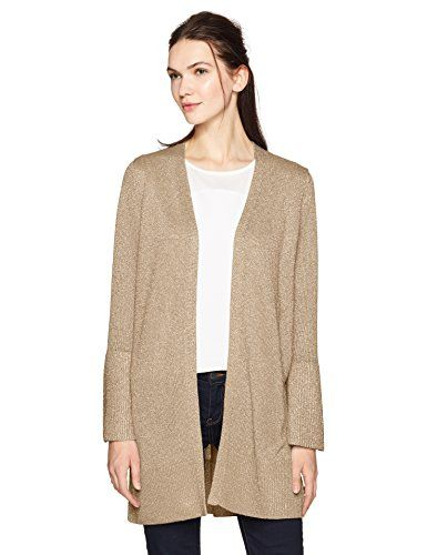 Missy 3 tier long sleeve bell sleeve cardigan with lurex  http://darrenblogs.com/us/2017/12/01/calvin-klein-womens-lurex-bell-sleeve-cardigan/