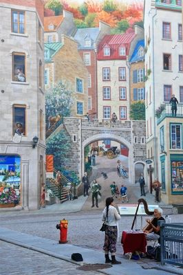 Wall Murals in old Quebec City