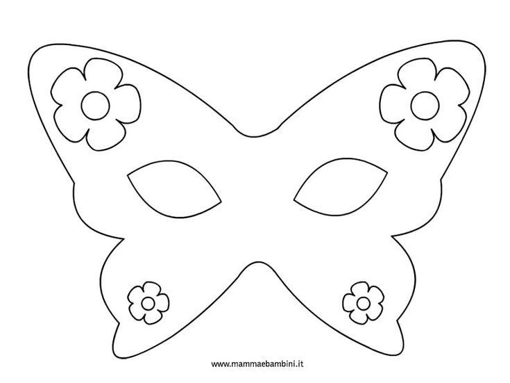 Carnevale: maschere da colorare