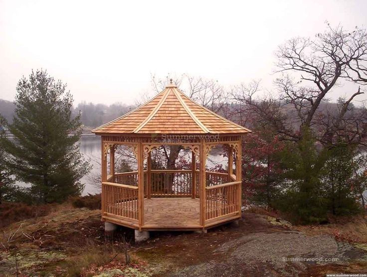 This Lakeside Gazebo Fits Any Place