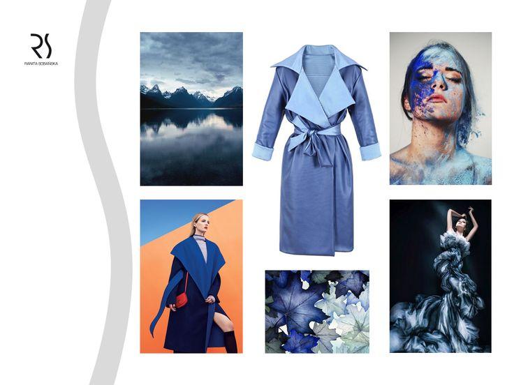 blue coat - Ranita Sobanska  #rs #moodboard #fashion #ReadyToWear #PolishFashionDesigner #FashionDesigner #designer #sportfashion #ModaPolska #PolscyProjektanci #blue #coat