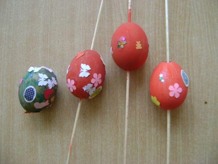 tojás festés + dekorálás gyerekkézzel
